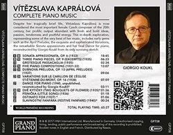Vítezslava Kapralova: Complete Piano Works