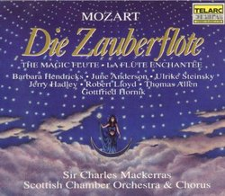 Mozart: Die Zauberflöte / Hendricks, J. Anderson, Steinsky, Hadley, Lloyd, Allen, Hornik, Mackerras