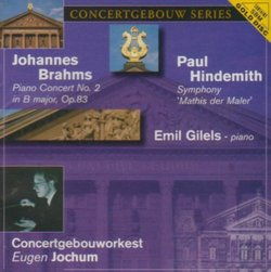 Brahms: Piano Concerto No. 2; Hindemith: Symphony 'Mathis der Maler'