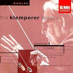 Mahler: Symphony No. 4; 5 Lieder