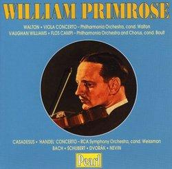 Handel: Concerto in B/Walton: Viola Concerto/Williams: Flos Campi/Bach: Komm/Schubert: Litanei/Dvorak: Humoresque/Nev