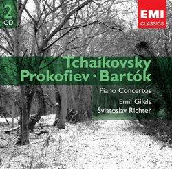 Tchaikovsky: Piano Concertos 1, 2 & 3 - Prokofiev: Piano Concerto 5 - Bartok: Piano Concerto 2 - Emil Gilels, Sviatoslav Richter, Lorin Maazel