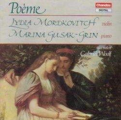 Lydia Mordkovitch performs Rubinstein Wagner Rachmaninov Chausson Dvorak Shostakovich Kroll Ridout (Chandos)