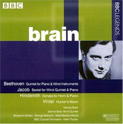 Beethoven: Quintet for Piano & Wind Instruments; Jacob: Sextet for Wind Quintet & Piano; Hindemith: Sonata for Horn &