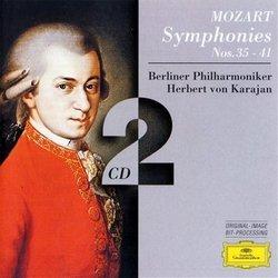 Mozart: Symphonies 35, 36, 38, 39, 40, 41 / Karajan