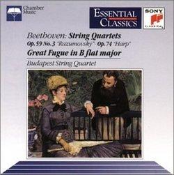 Beethoven: String Quartets Op.59, No.3 'Razumovsky'; Op.74 'Harp'; Great Fugue