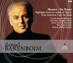 Mozart - Da Ponte Highlights / Barenboim, Berliner Philharmoniker
