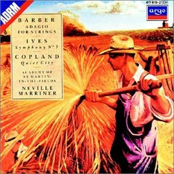 Barber: Adagio for Strings; Ives; Symphony No. 3; Copland: Quiet City