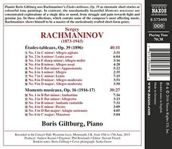 Rachmaninov: Etudes tableaux, Op. 39 - Moments musicaux, Op. 16