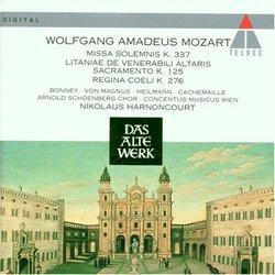 Mozart: Missa Solemnis K. 337 ¿ Litaniae K. 125 ¿ Regina Coeli K. 276