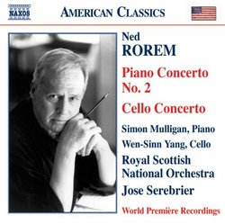 Rorem: Piano Concerto No. 2; Cello Concerto