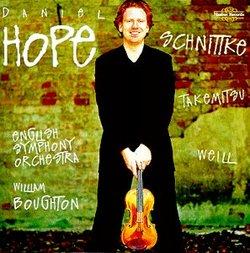 Schnittke: Sonata for Violin & Chamber Orchestra / Concerto Grosso 6 / Weill: Concerto for Violin & Wind Orchestra / Takemitsu: Nostalghia