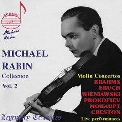 Michael Rabin Collection, Vol. 2: Violin Concertos