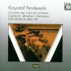 Penderecki: Viola Concerto / Capriccio for Oboe / Strophen for Soprano / Intermezzo for 24 Skeicher