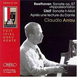 """Beethoven: Sonate Op. 57 """"Appassionata""""; Liszt: Sonate h-Moll; Après une lecture du Dante"""