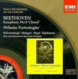 Beethoven - Symphony no. 9 'Choral' / Furtwängler, Schwarzkopf, Höngen, Hopf, Edelmann (Great Recordings of The Century)