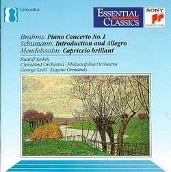 Brahms: Piano Concerto No. 1; Schumann: Introduction & Allegro
