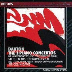 Bela Bartok Piano Concerti Nos 1 2 3 Stephen Bishop-Kovacevich  (Philips)