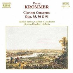Krommer: Clarinet Concertos