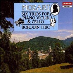 Mozart: Six Trios for Piano, Violin & Cello