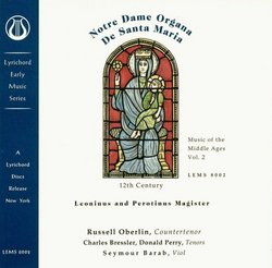 Music of the Middle Ages Vol. 2 - Notre Dame Organa De Santa Maria