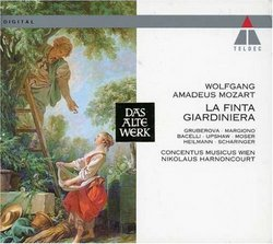 Mozart - La finta giardiniera / Gruberova · T. Moser · Heilmann · Margiono · Bacelli · Upshaw · Scharinger · Harnoncourt