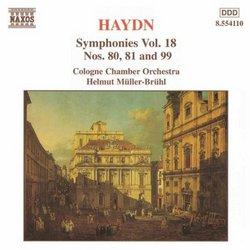 Haydn: Symphonies Nos. 80, 81 & 99