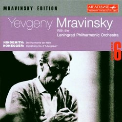 Yevgeny Mravinsky conducts Paul Hindemith & Arthur Honegger (Mravinsky Edition, Volume 6) (Melodiya)