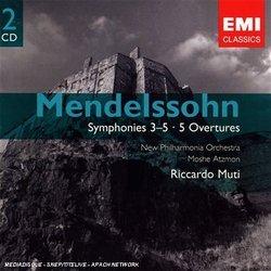 Mendelsson: Symphonies 3-5; Overtures