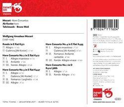 Mozart: Horn Concertos / Rondo in E Flat, K 371