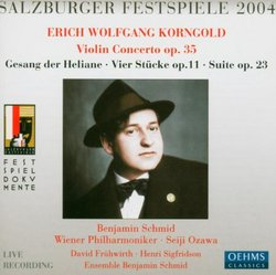 Erich Wolfgang Korngold: Violin Concerto in D major Op.35 / Gesang der Heliane Op.20 / Vier Stücke Op.11 / Suite Op.23