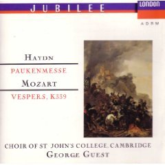 Haydn: Paukenmesse; Mozart: Vesperae solennes de confessore K 339 (London)