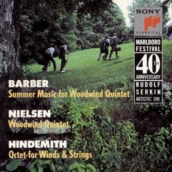 Marlboro Music Festival 40th Anniversary - Barber: Summer Music; Nielsen: Woodwind Quintet: Hindemith: Octet for Winds & Strings