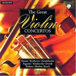 The Great Violin Concertos (Box Set)