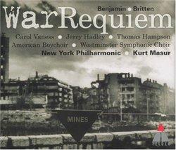 Britten: War Requiem / Vaness, Hadley, Hampson; Masur