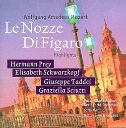 Mozart: Le Nozze Di Figaro - Highlights / Giulini, Prey, Schwarzkopf, et al