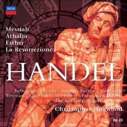 Handel: Messiah; Athalia; Esther; La Resurrezione [Box Set]