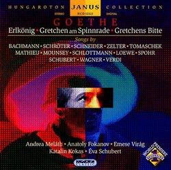Goethe: Erlkönig; Gretchen am Spinnrade; Gretchens Bitte