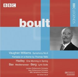 Boult Conducts Vaughan Williams, Hadley, Bax & Berg