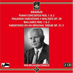 Brahms: Piano Concertos; Paganini Variations; Ballades; Variations  on an Original Theme