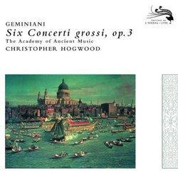 Six Concerti Grossi Op 3