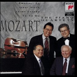 Mozart: Piano Quartets / Ax, Laredo, Ma, Stern