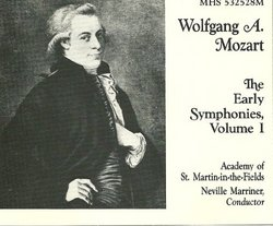 Mozart: The Early Symphonies, Vol. 1