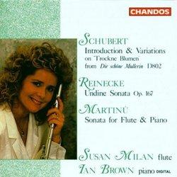 Schubert; Reinecke; Martinu: Flute & Piano Works