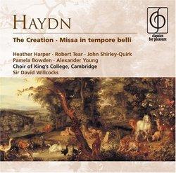 Haydn: The Creation; Missa in tempore belli