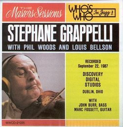 Stephane Grappelli with Phil Woods and Louis Bellson