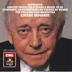 Hindemith: Concert Music for Strings & Brass; Symphonic Metamorphosis on Themes by Weber