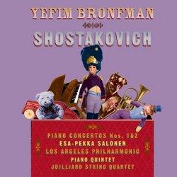 Shostakovich: Piano Concerto No. 1 in C minor for Piano, Trumpet and Orchestra Op. 35; Concerto No. 2 in F Major for Piano and Orchestra Op. 102; Quintet in G minor for Piano and Strings Op. 57 - Yefim Bronfman (piano), Los Angeles Philharmonic, Esa-Pekka