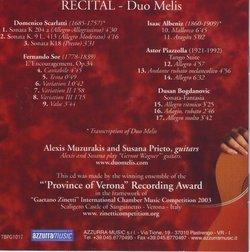 Recital - Melis Guitar Duo