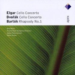 Elgar & Dvorák: Cello Concertos; Bartók: Rhapsody No. 1
